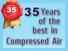 35 years of the best compressed air